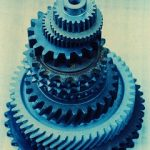 tool and die - stack of gears
