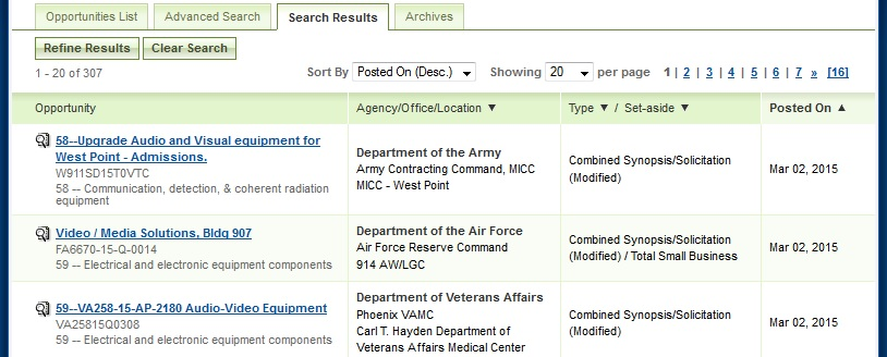 How To Find Government Contracts